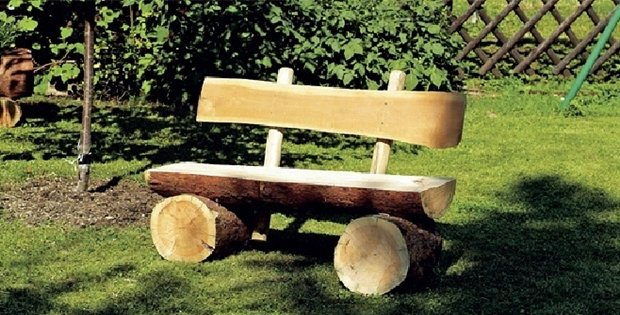 Be Amazed As This Homemade Log Bench Beautifies Your