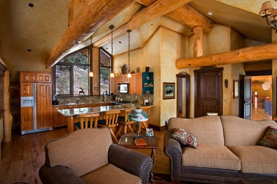 Where Log Home Meets High End Technology Cabin Obsession