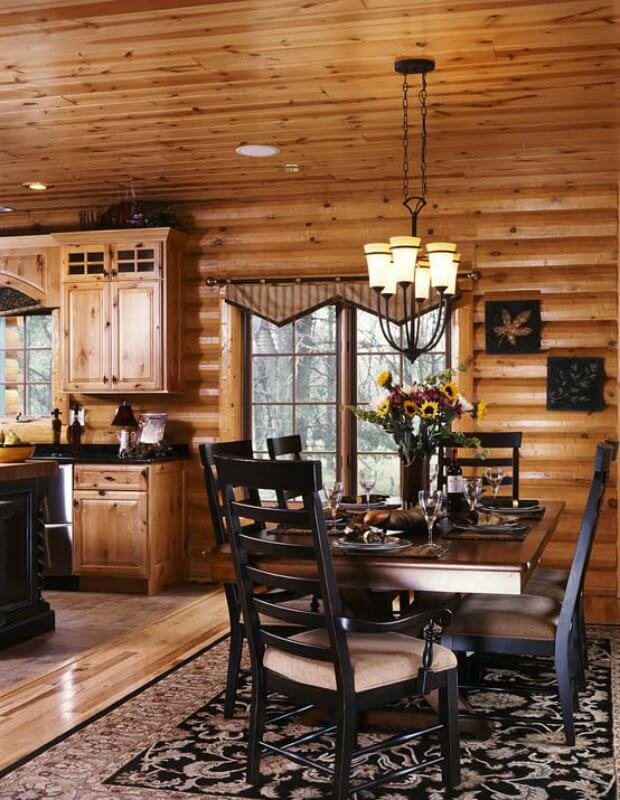 Ever wonder what it 39 s like to live in a lavish log home for Modern log home interiors
