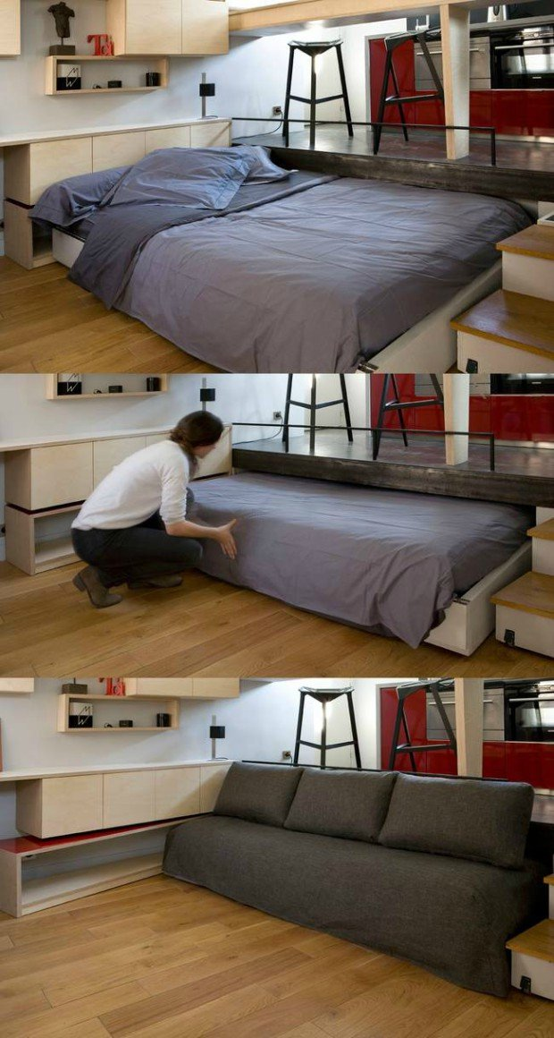 space saving hack for your tiny home cabin obsession. Black Bedroom Furniture Sets. Home Design Ideas