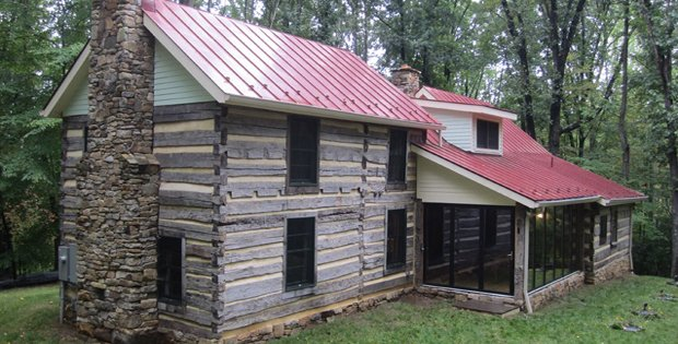 Chunky logs and fat chinking cabin obsession for Chinking log cabin