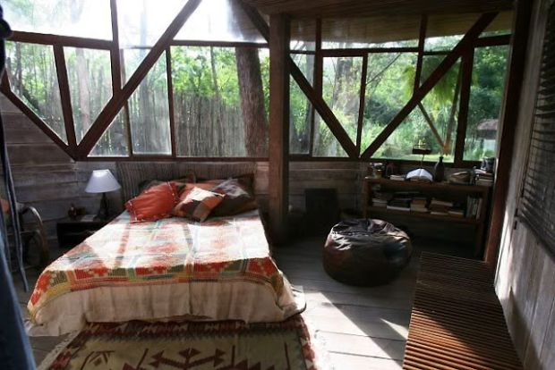 bedroom bohemian hippie dome house eco build