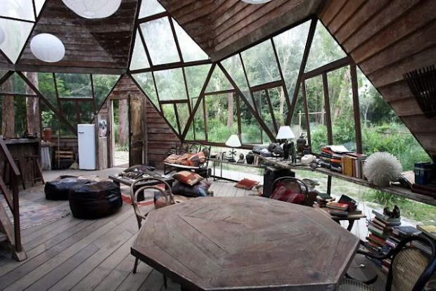 chill bohemian hippie dome house eco build