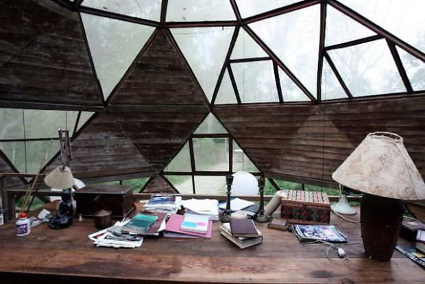 desk bohemian hippie dome house eco build