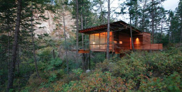 The Small Contemporary Mountaintop Cabin Cabin Obsession