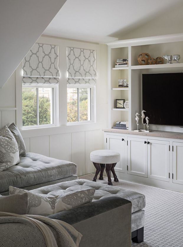 A new england style cottage cabin obsession for Small den furniture