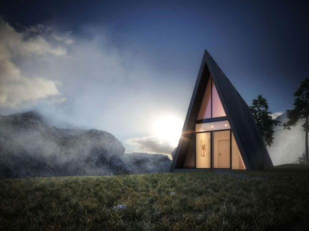 The Little Triangular Shed On The Edge Of A Cliff Cabin