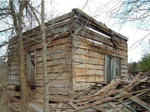 Before After Relocated And Reconstructed Log Cabin