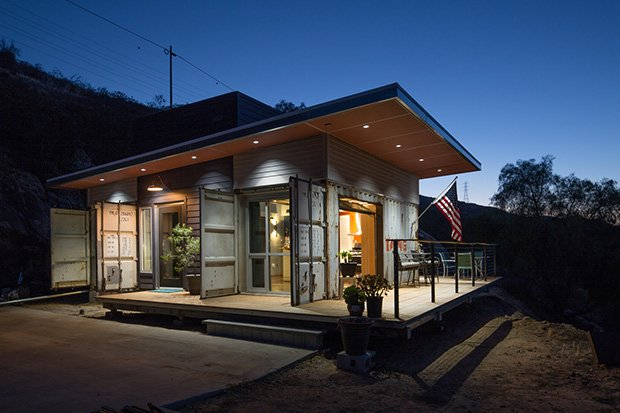 Building your own shipping container home cabin obsession - Container homes san diego ...