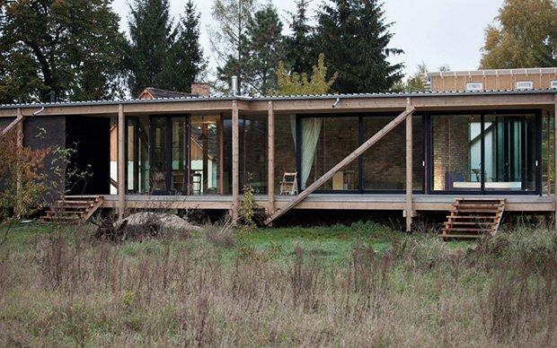 Sleek Low Cost Cabin Construction