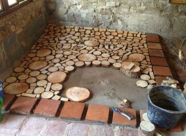 Cordwood FLOORING 05