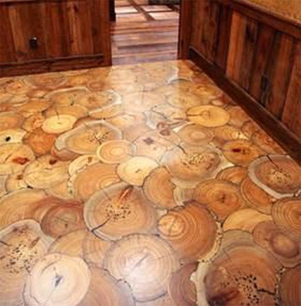 Cordwood FLOORING 09