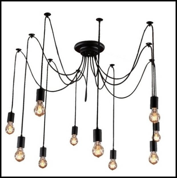 01 RESIZED Edison 10-Light Chandelier with Bulbs