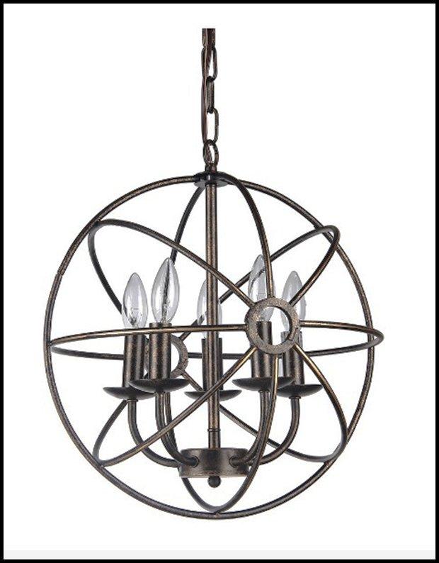 04 RESIZED Globe Sphere Chandelier, Antique Bronze