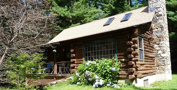 An Authentic Berkshire Log Cabin Cabin Obsession