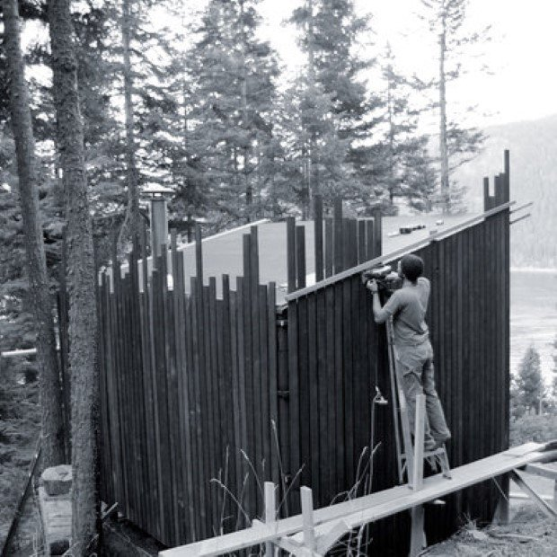 Signal cabin, OR woods; Aug.'10; befores B/W; courtesy home owner: Ryan Lingard