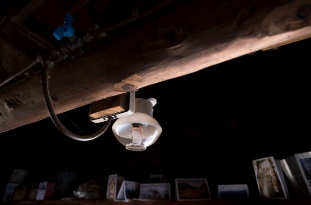 WALDO, MAINE --01/14/2016 -- A gas light in Lee Stover's cabin in Waldo. The cabin that has no electricity or running water and stover still uses the gas lights as a backup to LED lightsources. The cabin was built by his father in the 1950's and his family made many trips each year to spend time there. Gabor Degre | BDN